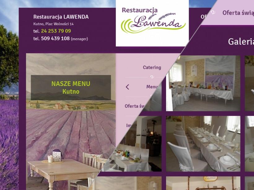 Restauracja Lawenda - Strony internetowe Kutno